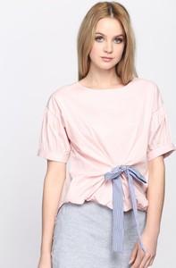 Różowa bluzka Multu w stylu casual