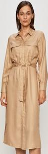 Sukienka Vero Moda z kołnierzykiem w stylu casual z tkaniny