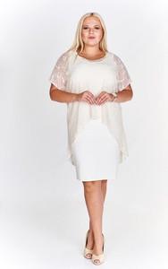 Sukienka Fokus dopasowana w stylu klasycznym z tkaniny