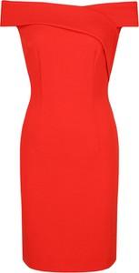 Czerwona sukienka Guess Jeans mini hiszpanka ołówkowa