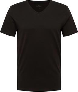 Czarny t-shirt Tom Tailor z bawełny