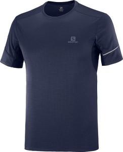 Niebieski t-shirt Salomon w stylu casual