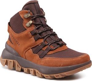 Brązowe buty zimowe Merrell w stylu casual
