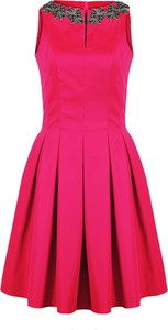 Zielona sukienka Camill Fashion z tkaniny dla puszystych