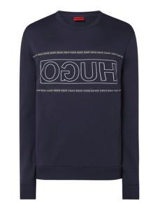 Granatowa bluza Hugo Boss z bawełny w młodzieżowym stylu