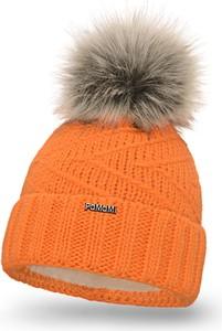Pomarańczowa czapka PaMaMi w stylu casual