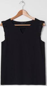 Czarna bluzka House w stylu casual bez rękawów z okrągłym dekoltem