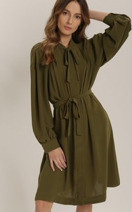 Sukienka Renee z kołnierzykiem z długim rękawem mini