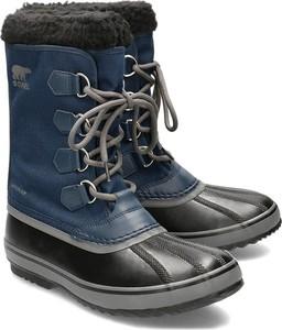 Buty zimowe Sorel ze skóry sznurowane