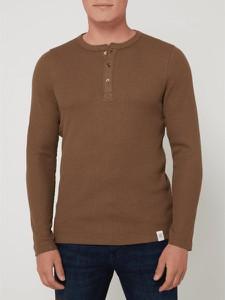 Brązowa koszulka z długim rękawem McNeal z długim rękawem w stylu casual