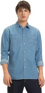Niebieska koszula Tommy Jeans z długim rękawem