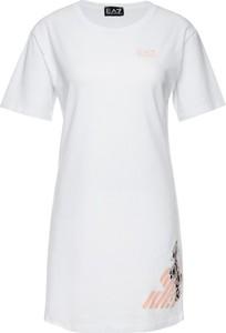 Sukienka EA7 Emporio Armani mini z okrągłym dekoltem z krótkim rękawem