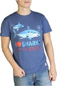 Niebieski t-shirt Yes Zee z bawełny