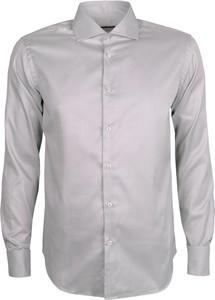 Szara koszula trussardi z tkaniny
