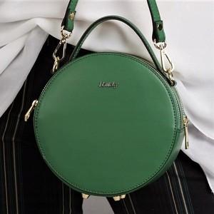 Zielona torebka Rovicky na ramię ze skóry