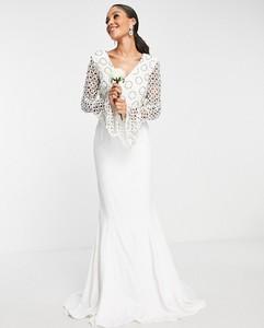 Sukienka Virgos Lounge z długim rękawem z dekoltem w kształcie litery v