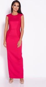 6e9e25f5b9 Sukienka Dursi bez rękawów dopasowana z okrągłym dekoltem