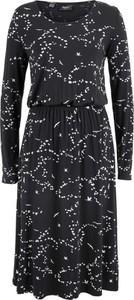 Czarna sukienka bonprix bpc bonprix collection w kwiaty