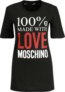 Sukienka Love Moschino z okrągłym dekoltem w stylu casual z krótkim rękawem