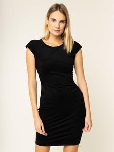Czarna sukienka Guess z okrągłym dekoltem w stylu casual mini