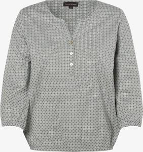 Bluzka Franco Callegari z dekoltem w kształcie litery v z długim rękawem w stylu casual