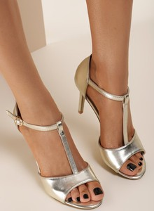 Srebrne sandały Renee z klamrami