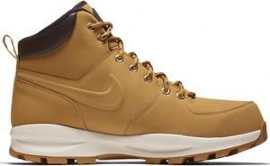 Żółte buty trekkingowe Nike sznurowane ze skóry