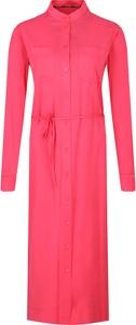 Sukienka Calvin Klein z długim rękawem w stylu casual z kołnierzykiem