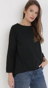 Czarna bluzka born2be w stylu casual z okrągłym dekoltem