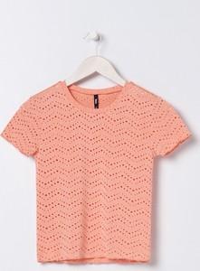 Pomarańczowa bluzka Sinsay w stylu casual