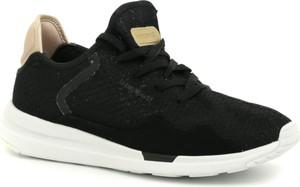 Czarne buty sportowe Le Coq Sportif sznurowane w sportowym stylu