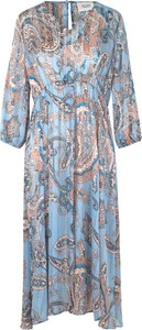 Sukienka Second Female w stylu casual z dekoltem w kształcie litery v maxi