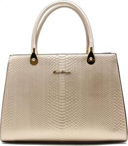Złota torebka Tom & Eva Paris ze skóry
