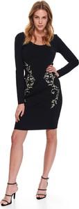 Czarna sukienka Top Secret w stylu casual z długim rękawem mini