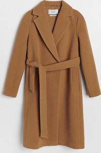 Płaszcz Reserved z wełny w stylu casual