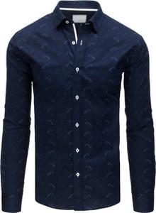 Niebieska koszula Dstreet z długim rękawem z kołnierzykiem button down