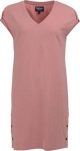 Sukienka Barbour z dekoltem w kształcie litery v z bawełny