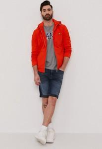 Czerwona koszulka z długim rękawem Gant w stylu casual