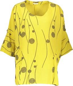 Bluzka Linen Factory z długim rękawem w stylu casual
