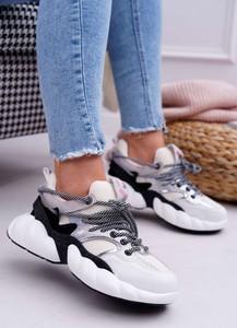 Buty sportowe Big Star sznurowane z zamszu z płaską podeszwą