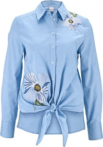 Niebieska koszula Heine z długim rękawem