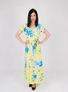 Sukienka Sklepfilloo z krótkim rękawem z dekoltem w kształcie litery v maxi
