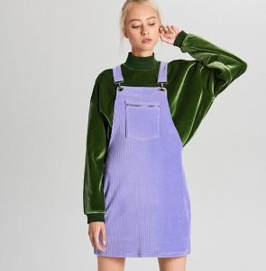 Fioletowa spódnica Cropp ze sztruksu mini