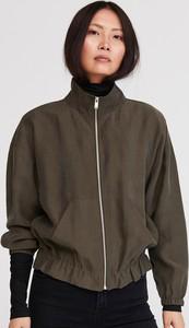 Zielona kurtka Reserved w stylu casual krótka