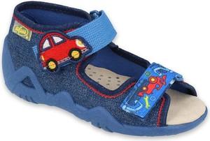 Buty dziecięce letnie Befado dla chłopców na rzepy z bawełny