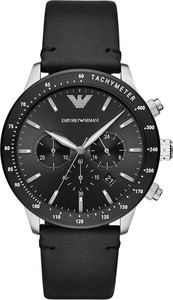Zegarek EMPORIO ARMANI - Men's Leather Cronograph AR11243 Black