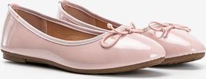 Różowe baleriny Gemre.com.pl z płaską podeszwą w stylu casual