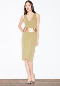 Sukienka Figl ze skóry ekologicznej