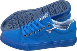 Niebieskie buty sportowe big star z płaską podeszwą sznurowane