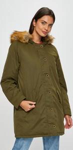 Zielona kurtka Mustang długa z bawełny